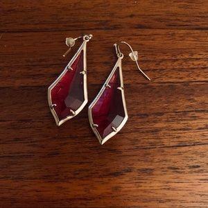 Red jewel Kendra Scott earrings